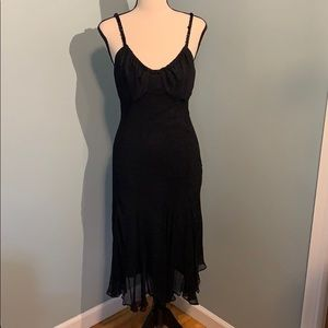 Little Black Dress with Beaded Straps